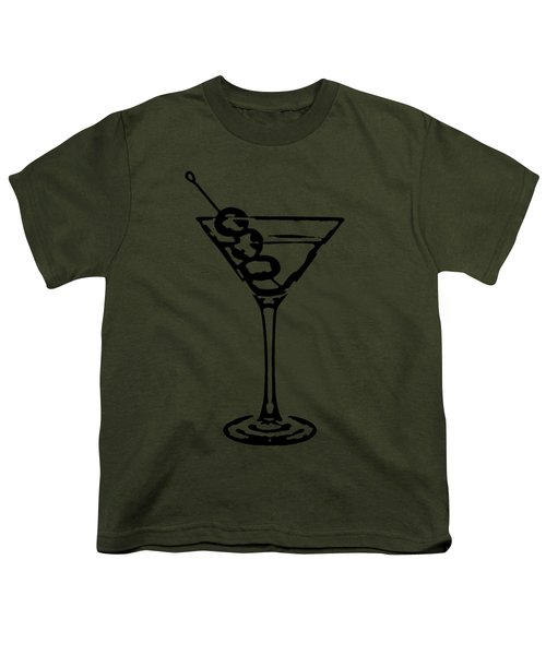 Martini Glass Tee Youth T-Shirt by Edward Fielding