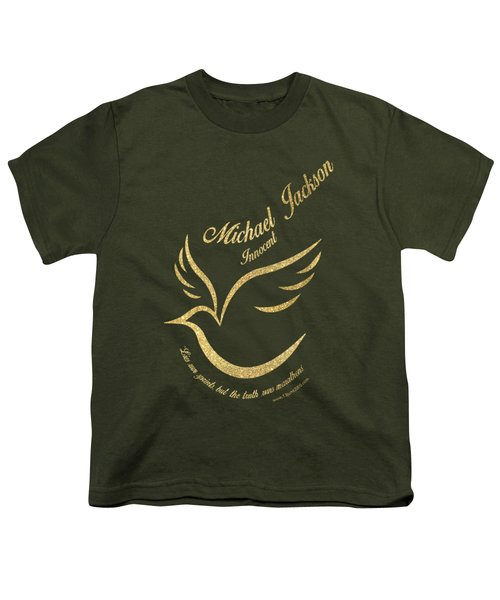 Michael Jackson Golden Dove Youth T-Shirt by D Francis