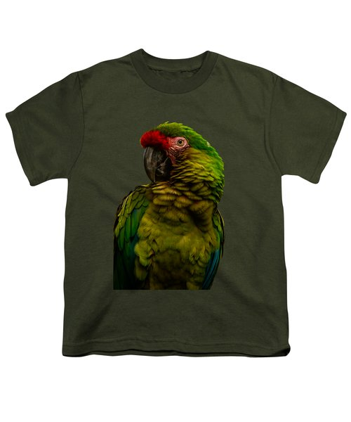 Military Macaw Youth T-Shirt by Zina Stromberg