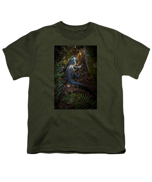 Mr Alley Gator Youth T-Shirt by Marvin Spates