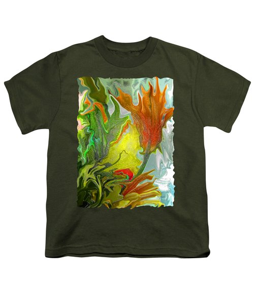 Orange Tulip Youth T-Shirt by Kathy Moll