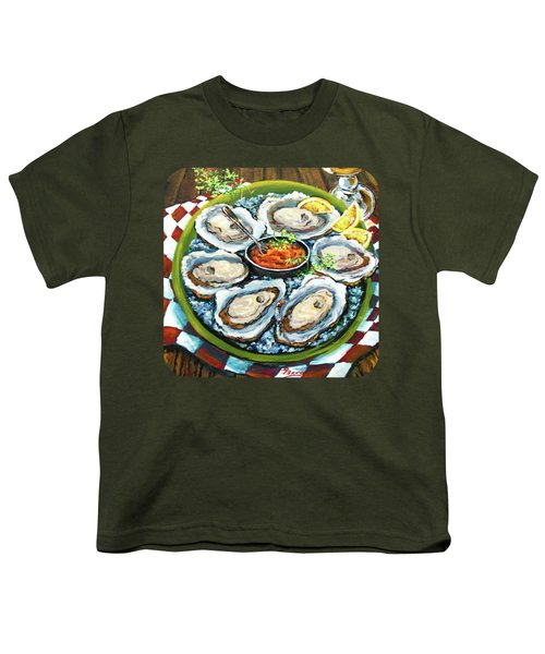Oysters On The Half Shell Youth T-Shirt by Dianne Parks