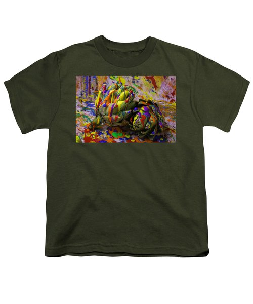 Painted Artichokes Youth T-Shirt by Garry Gay