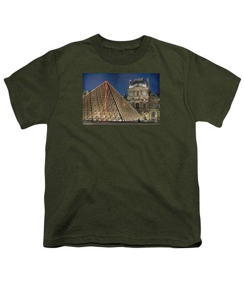 Paris Louvre Youth T-Shirt by Juli Scalzi