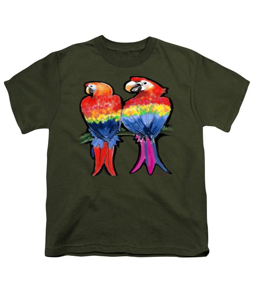 Parrots Youth T-Shirt by Kevin Middleton
