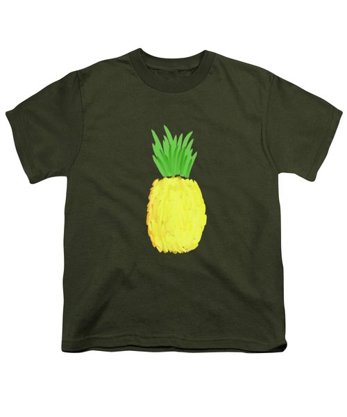 Pineapple Youth T-Shirt by Priscilla Wolfe