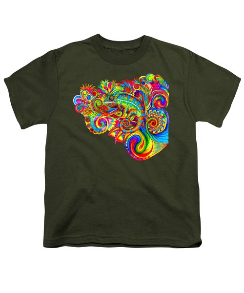 Psychedelizard Youth T-Shirt by Rebecca Wang