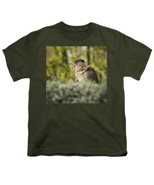 Roadrunner On Guard  Youth T-Shirt by Saija  Lehtonen