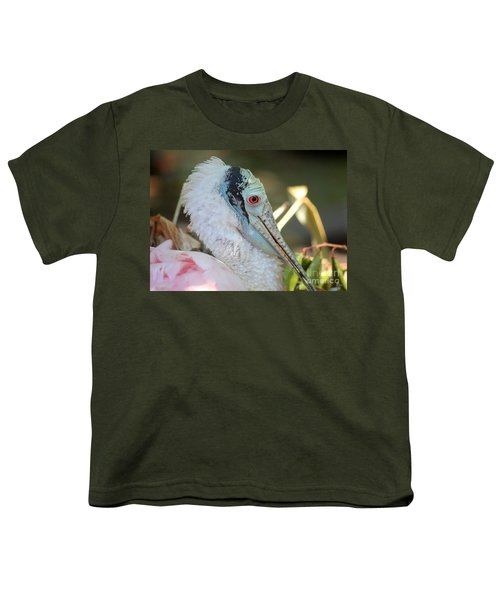 Roseate Spoonbill Profile Youth T-Shirt by Carol Groenen