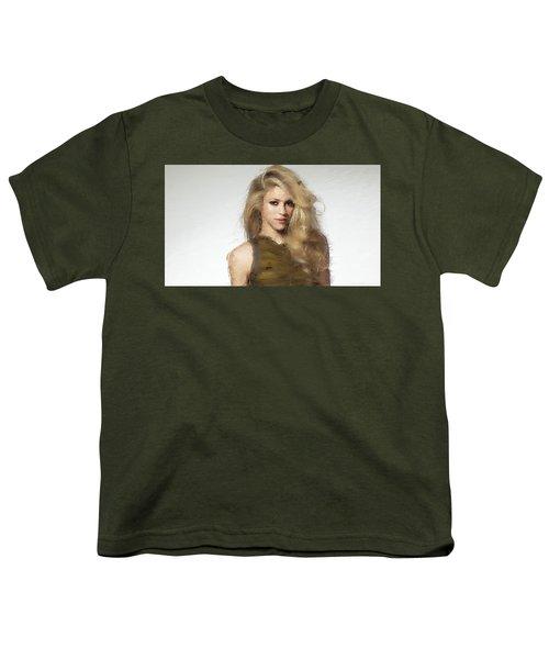 Shakira Youth T-Shirt by Iguanna Espinosa