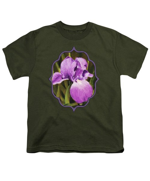 Single Iris Youth T-Shirt by Anastasiya Malakhova