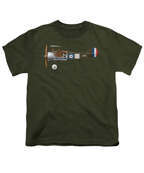 Sopwith Camel - B6313 March 1918 - Side Profile View Youth T-Shirt by Ed Jackson