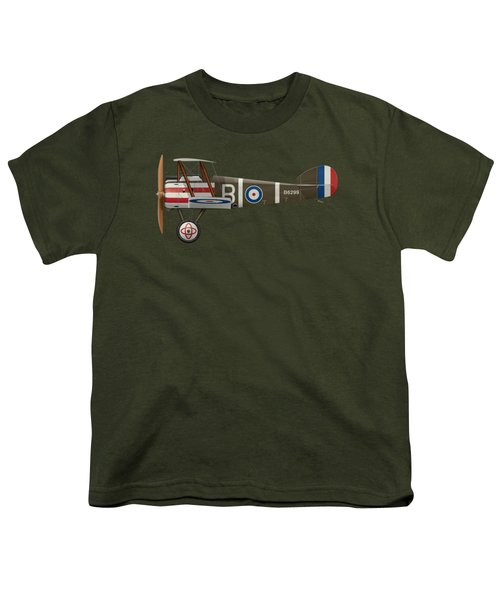 Sopwith Camel - B6299 - Side Profile View Youth T-Shirt by Ed Jackson