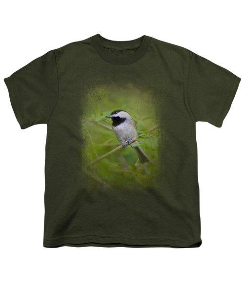 Spring Chickadee Youth T-Shirt by Jai Johnson