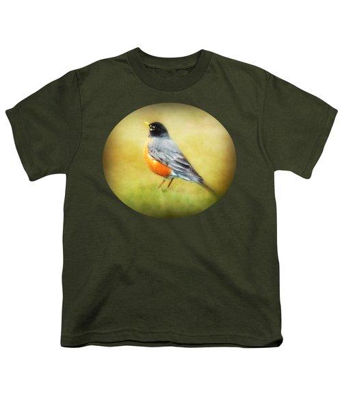 Spring Robin Youth T-Shirt by Anita Faye