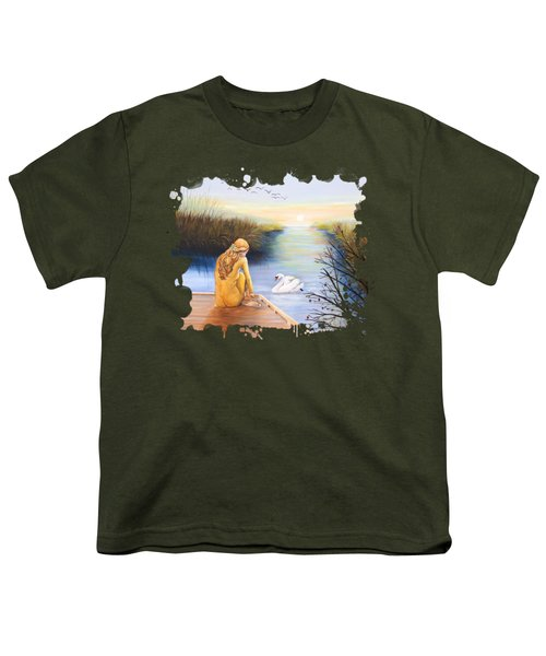 Swan Bride T-shirt Youth T-Shirt by Dorothy Riley