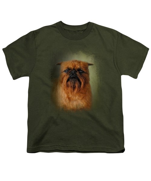 The Brussels Griffon Youth T-Shirt by Jai Johnson