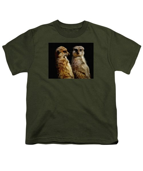 The Meerkats Youth T-Shirt by Ernie Echols