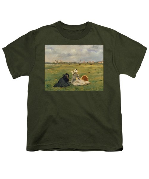 The Swallows Youth T-Shirt by Edouard Manet