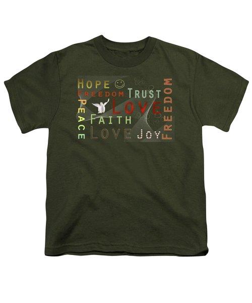 Think Positive Youth T-Shirt by Jutta Maria Pusl