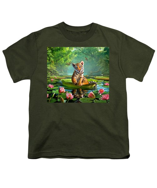 Tiger Lily Youth T-Shirt by Jerry LoFaro