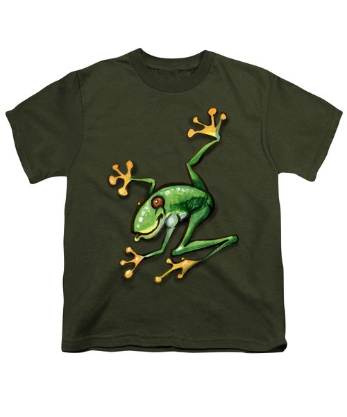 Tree Frog Youth T-Shirt by Kevin Middleton