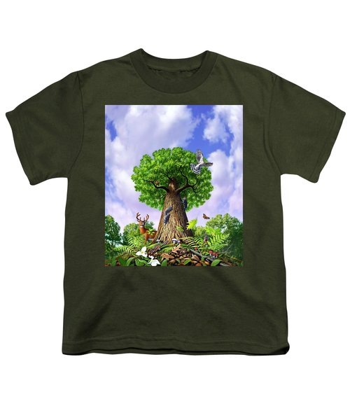 Tree Of Life Youth T-Shirt by Jerry LoFaro