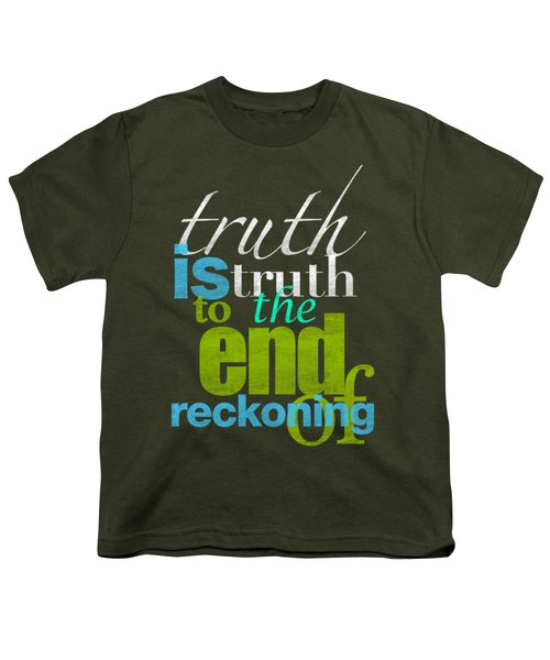 Michael Jackson Truth Is Truth Youth T-Shirt by D Francis