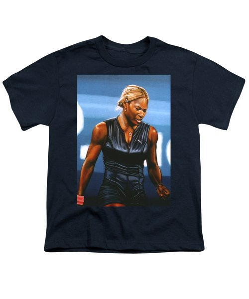 Serena Williams Youth T-Shirt by Paul Meijering