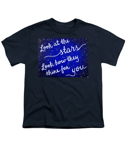 11x14 Look At The Stars Youth T-Shirt by Michelle Eshleman