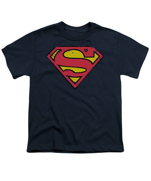 Superman - Distressed Shield Youth T-Shirt by Brand A