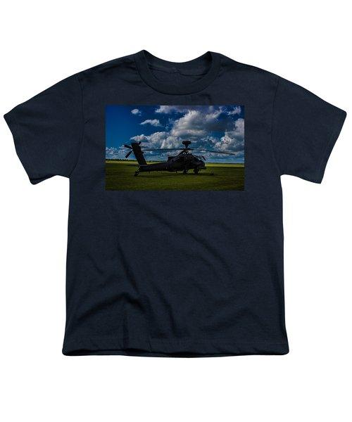 Apache Gun Ship Youth T-Shirt by Martin Newman