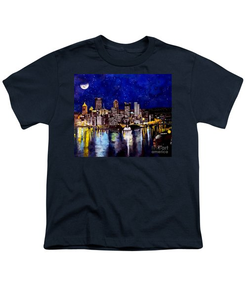City Of Pittsburgh At The Point Youth T-Shirt by Christopher Shellhammer