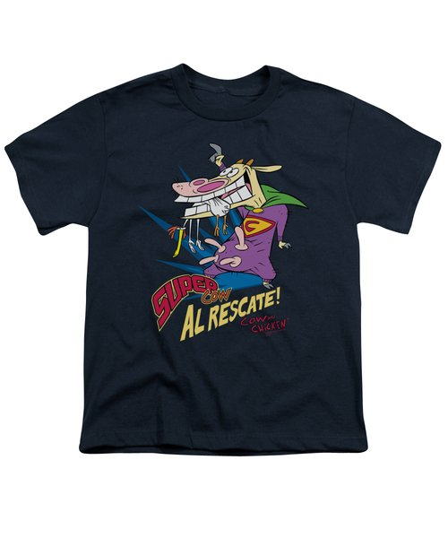 Cow And Chicken - Super Cow Youth T-Shirt by Brand A