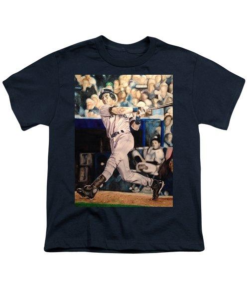 Derek Jeter Youth T-Shirt by Lance Gebhardt