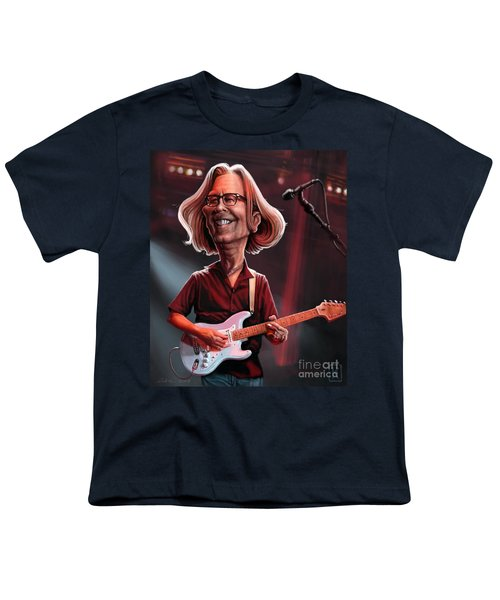 Eric Clapton Youth T-Shirt by Andre Koekemoer