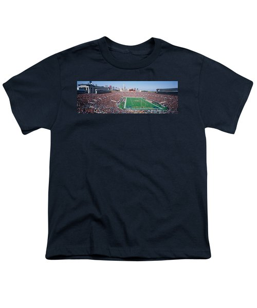 Football, Soldier Field, Chicago Youth T-Shirt by Panoramic Images