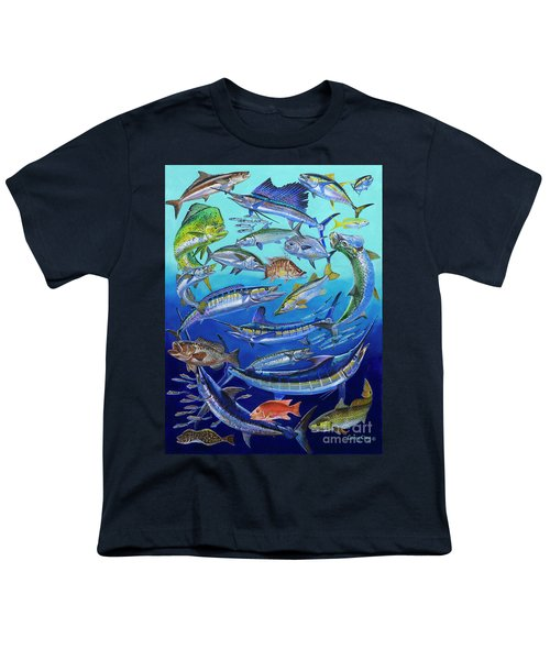 Gamefish Collage In0031 Youth T-Shirt by Carey Chen
