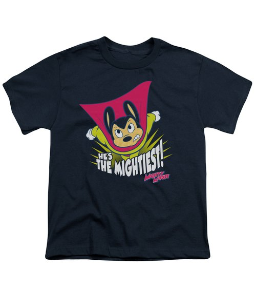 Mighty Mouse - The Mightiest Youth T-Shirt by Brand A
