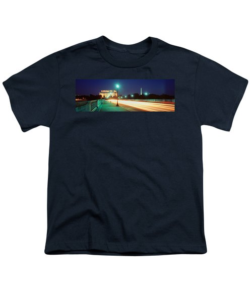 Night, Lincoln Memorial, District Of Youth T-Shirt by Panoramic Images