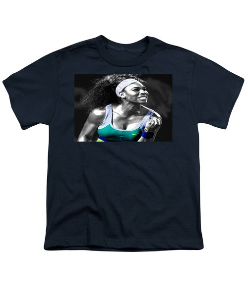 Serena Williams Ace Youth T-Shirt by Brian Reaves