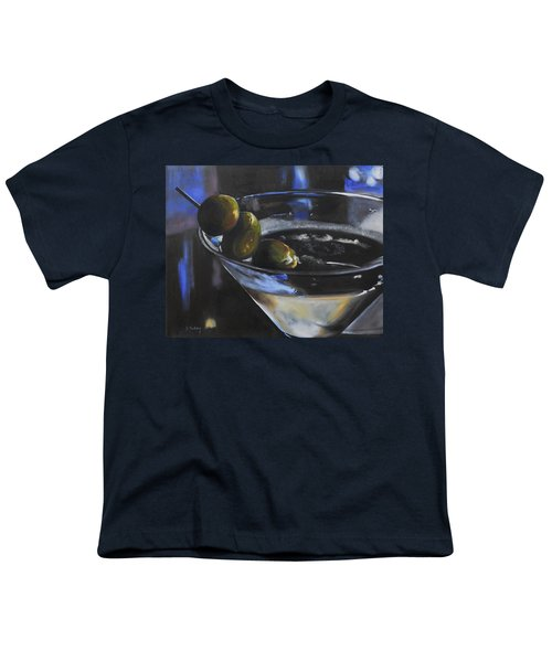 Three Olive Martini Youth T-Shirt by Donna Tuten
