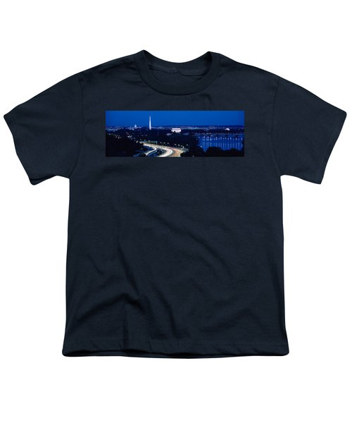 Traffic On The Road, Washington Youth T-Shirt by Panoramic Images