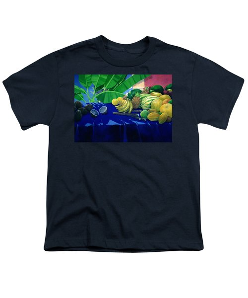 Tropical Fruit Youth T-Shirt by Lincoln Seligman