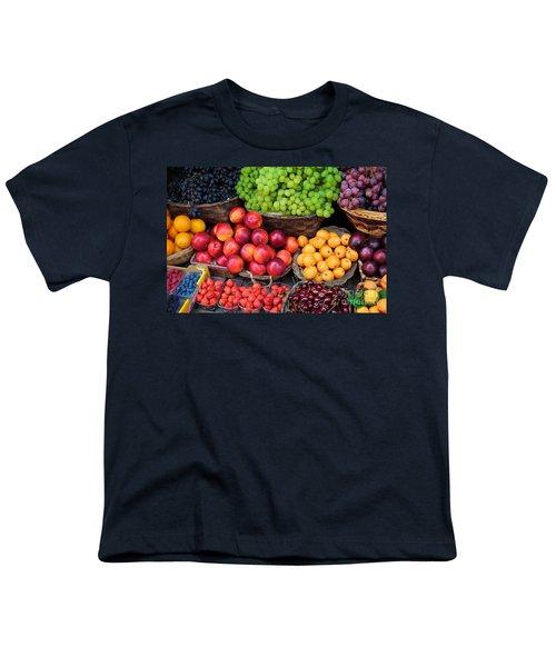 Tuscan Fruit Youth T-Shirt by Inge Johnsson