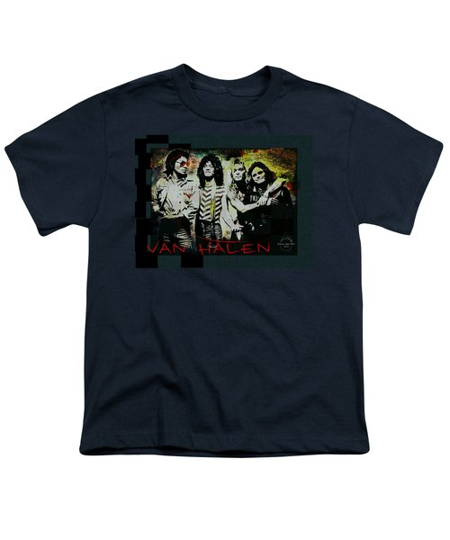 Van Halen - Ain't Talkin' 'bout Love Youth T-Shirt by Absinthe Art By Michelle LeAnn Scott