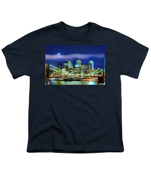 Watching Over New York Youth T-Shirt by Az Jackson