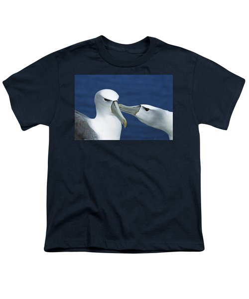 White-capped Albatrosses Courting Youth T-Shirt by Tui De Roy