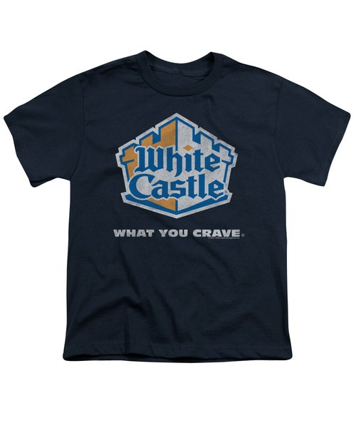 White Castle - Distressed Logo Youth T-Shirt by Brand A