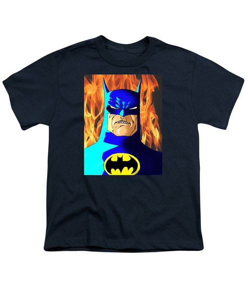 Old Batman Youth T-Shirt by Salman Ravish